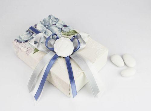 Scatolina per confetti decoro cammeo - bomboniera x matrimonio