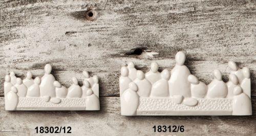 Magnete Ultima Cena stilizzata in resina - Set 12 pz