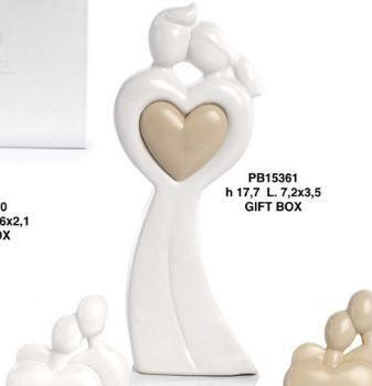 Coppia Innamorati cuore - Mandorle