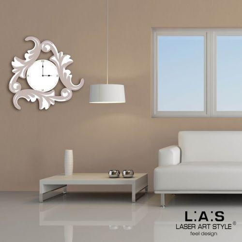 Orologio parete con decori stile barocco stilizzato - Laser Art Style