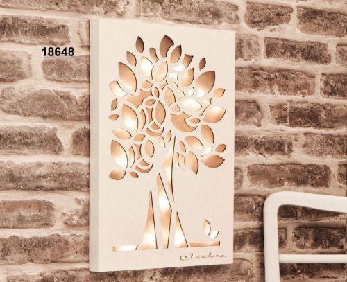 Quadro albero della vita con led