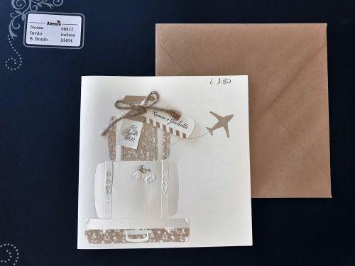Partecipazione con aereo e valigie
