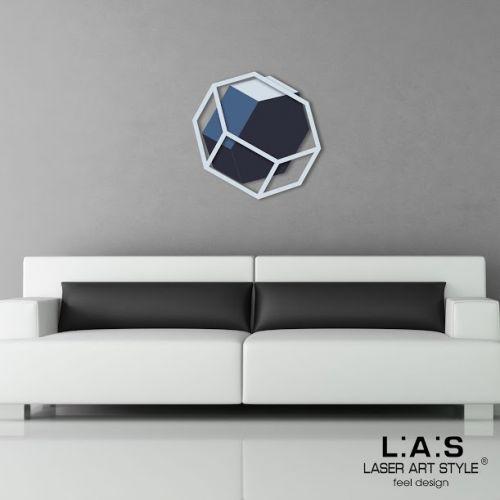 Quadro in mdf legno con esagono effetto 3D tema geometrico - Laser Art Styl