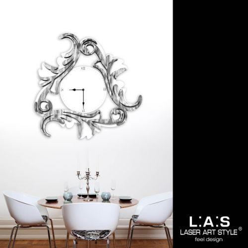 Orologio da parete con decoro stilizzato shabby - Laser Art Style