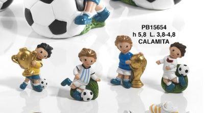 Calamita Bimbo e palla da calcio - Mandorle