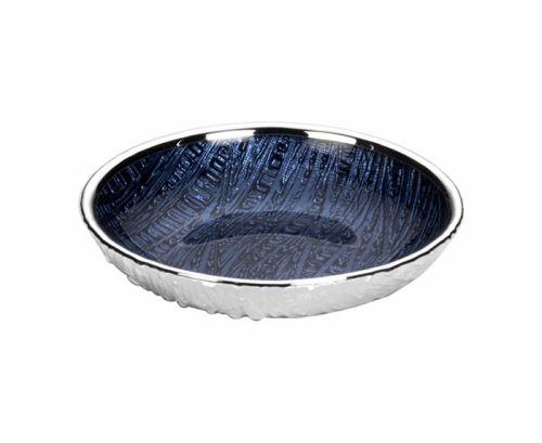Piattino INFINITY bomboniera in vetro e argento nozze - Argenesi