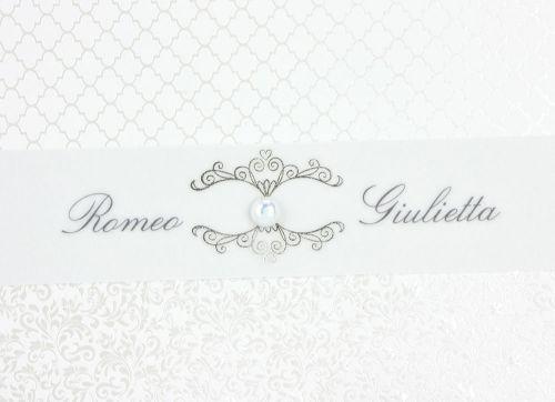 Partecipazione per matrimoni con perla