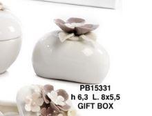 Diffusore coperchio fiori in porcellana  - Mandorle
