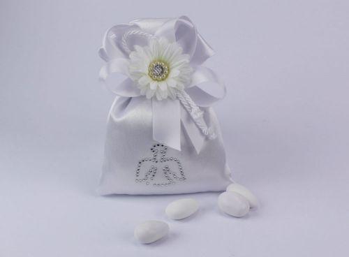Sacchetto confetti in seta angelo Gioia