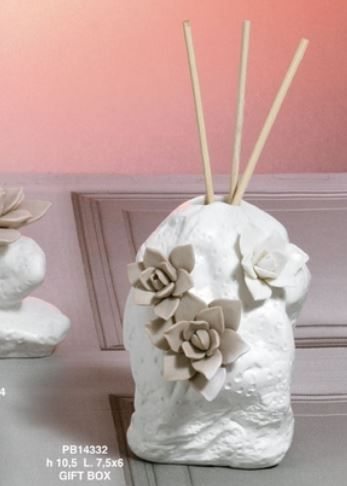 Diffusore pietra dettaglio fiori - Mandorle