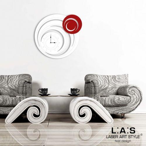Orologio tondo circolare da parete stilizzato - Laser Art Style
