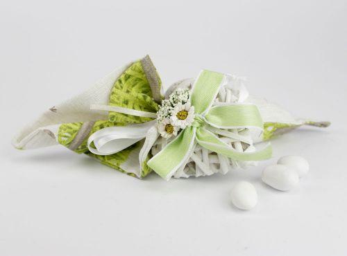 Cono Porta confetti Shabby Cuore legno - Matrimonio / 1° Comunione