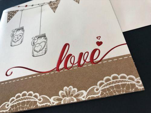 Partecipazione Love stile shabby