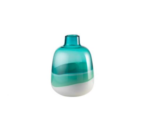 Vaso vetro bicolor - L'Oca Nera
