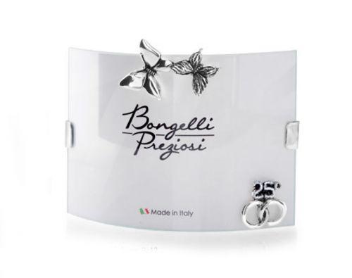Portafoto 25 anni matrimonio farfalle e fedi bomboniera Nozze d'argento - Memory