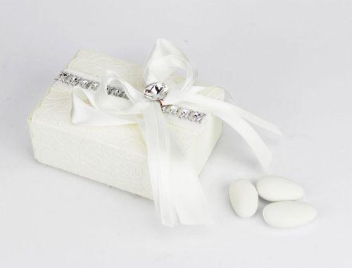 Scatolina portaconfetti con punto luce bomboniera Matrimonio