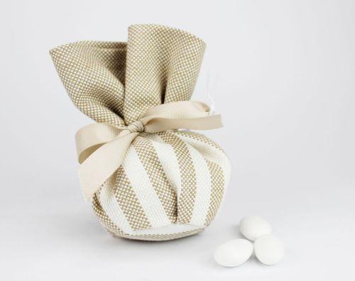 Sacchetto per confetti righe linea ISCHIA - per Nozze o Prima comunione