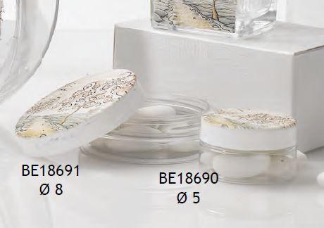 Porta confetti rotondo con Albero affresco Delizia