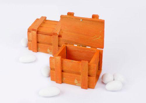 Scatolina a baule legno colorato porta confetti per Prima Comunione / Matrimonio- Linea 2 Elle