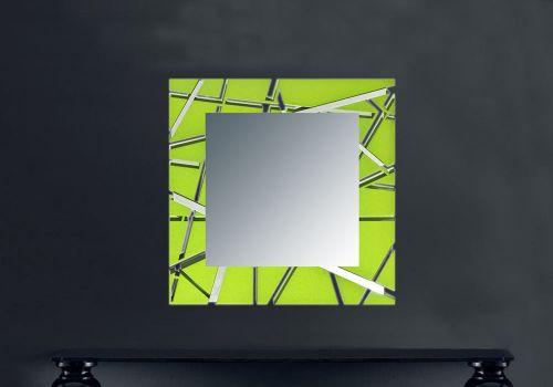 Specchiera dal design geometrico