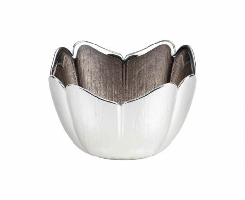 Ciotola in vetro e argento TULIPANO matrimonio - Argenesi