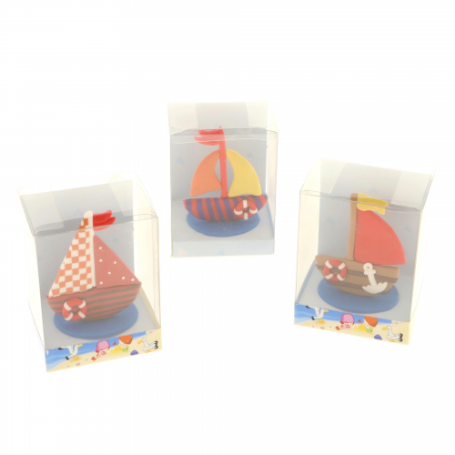Box con barchette tema mare in fimo