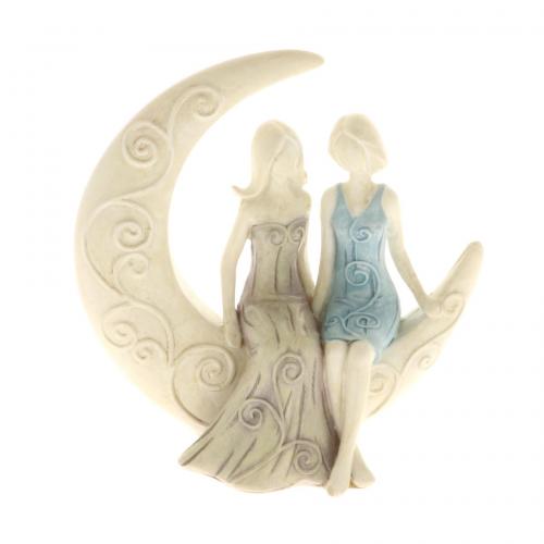 Statuetta Sposi Donna con luna