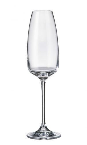 Set 6 bicchieri flute Alizee in cristallo Bohemia