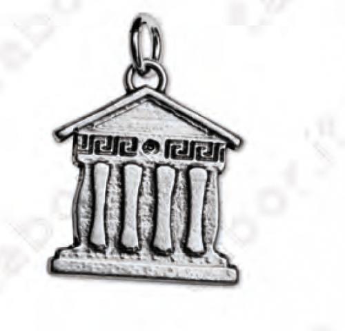 Ciondolo tempio greco - Bomboniera laurea