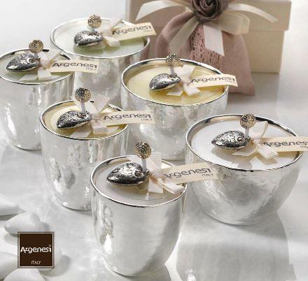 Porta candela MASTERPIECE in resina e argento - Bomboniera Argenesi