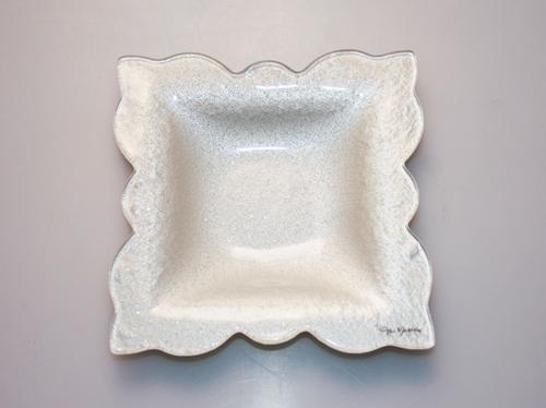 Centrotavola in vetro brinato - 12x12cm - Gai Mattiolo