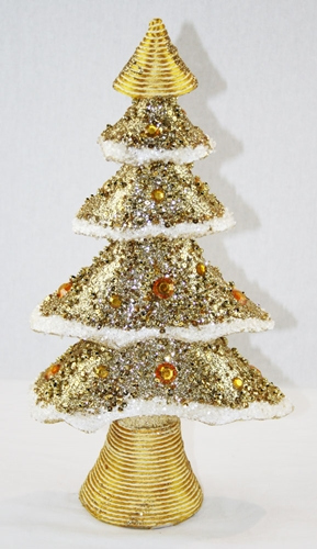 Albero natalizio color oro