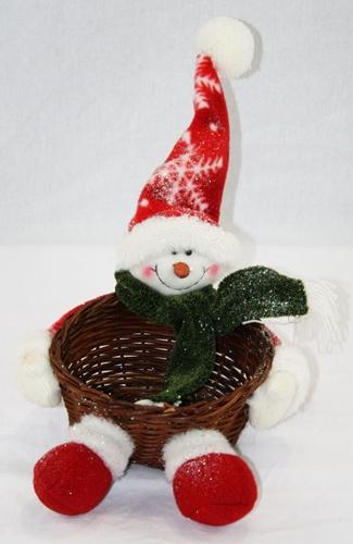 Cesto con Babbo Natale
