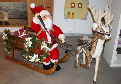 Slitta con Babbo Natale mobile
