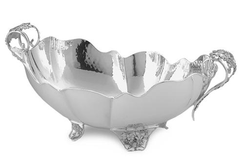 Jatta in argento con margherite