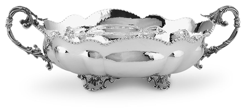 Jatta ovale con decoro e bordo perlinato