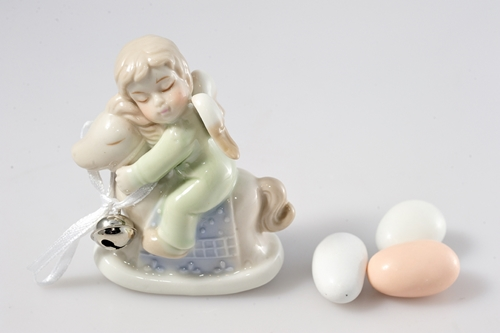 Angelo del conforto - bomboniere porcellana Wald
