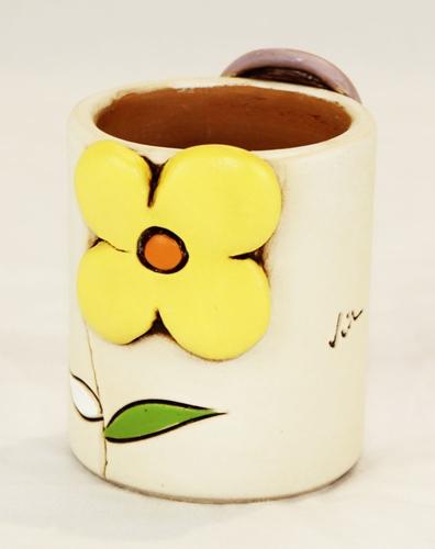 Portastuzzicadenti con decoro floreale - ceramica
