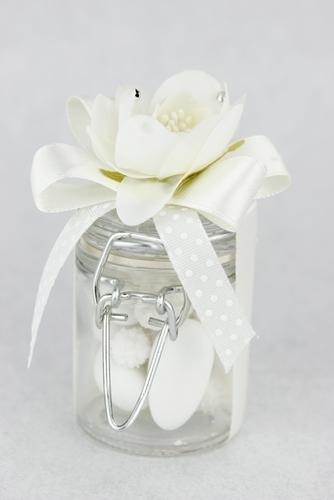 Barattolino con gardenia