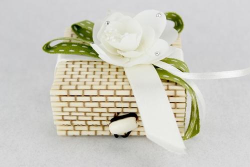 Portaconfetti quadrato in bamboo