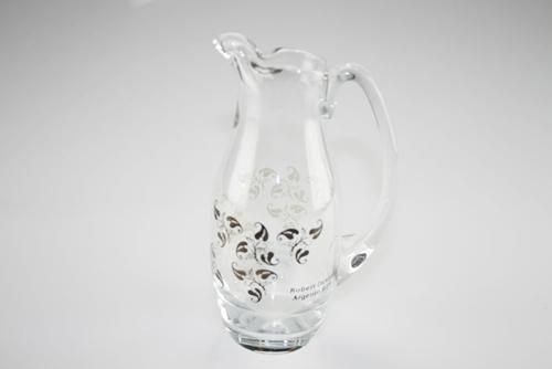 Brocca in vetro con decori