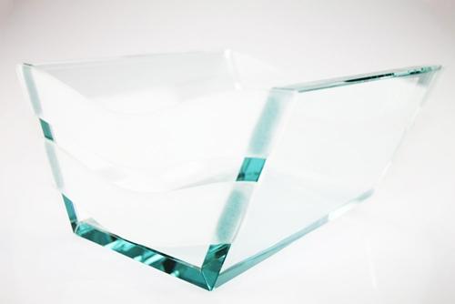 Centro tavola in vetro