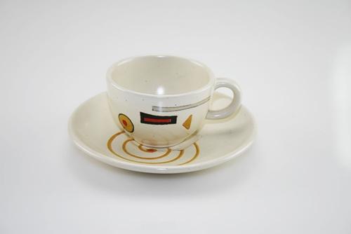 Tazza da caffè con decori astratti