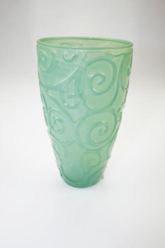 Bicchiere acqua in vetro verde