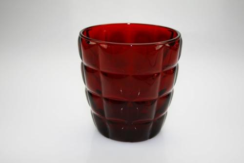 Bicchiere vino in vetro rosso
