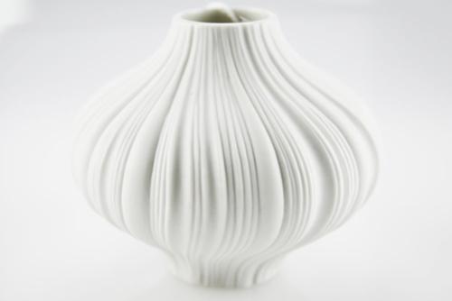 Mini Vaso plissè in porcellana