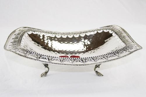 Cestino rettangolare - argento sheffield