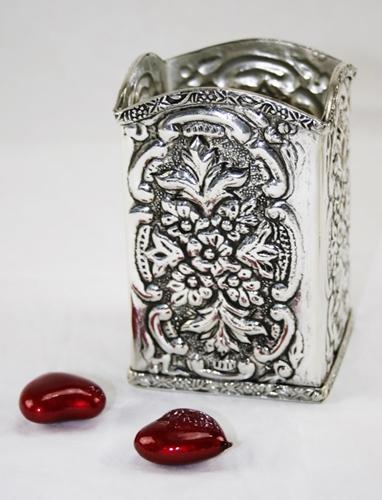 Portapenne - argento sheffield
