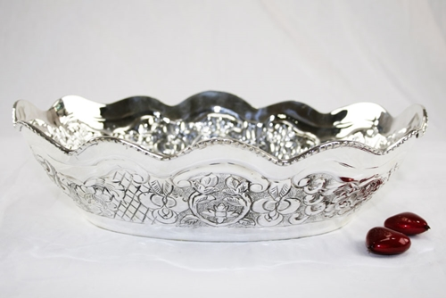 Ciotola ovale - argento sheffield