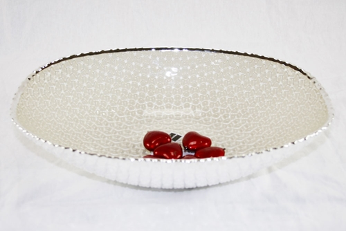 Centro tavola diamante tondo color avorio - Argenesi